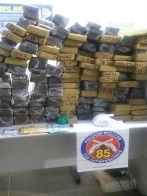 Polícia apreende cerca de 150kg de maconha na Bahia