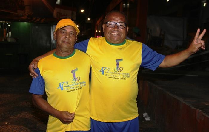 Amarildo (E) e Washington correm ha cerca de 35 anos   foto: Raimundo Mascarenhas