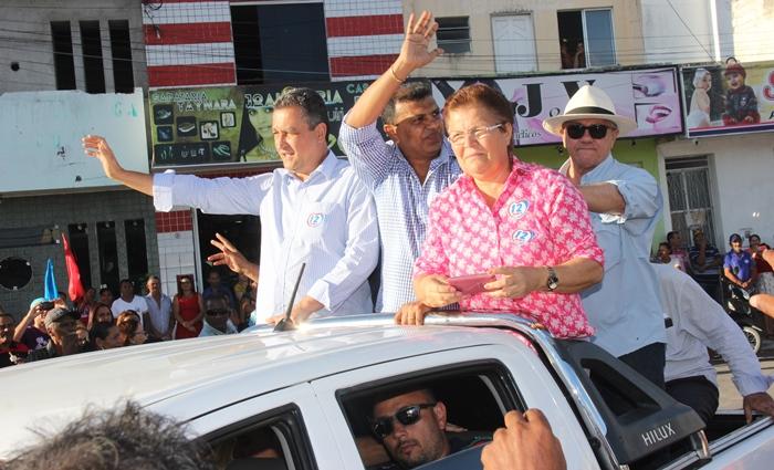 Rui Costa participou do primeiro ato político no Território do sisal em Cansanção | Foto: Raimundo Mascarenhas