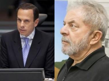 Doria chegou a afirmar que pediria ao juiz Sérgio Moro para adiar a prisão de Lula