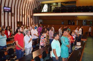 Familiares e amigos do homenageado marcaram presença