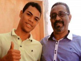 Jovem, na foto ao lado do pai, morreu após se afogar no Rio São Francisco, na BA