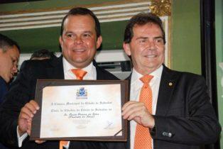 Paulinho da Força presidente nacional do SD recebeu titulo de cidadão soteropolitano do vereador Geraldo Junior em Salvador