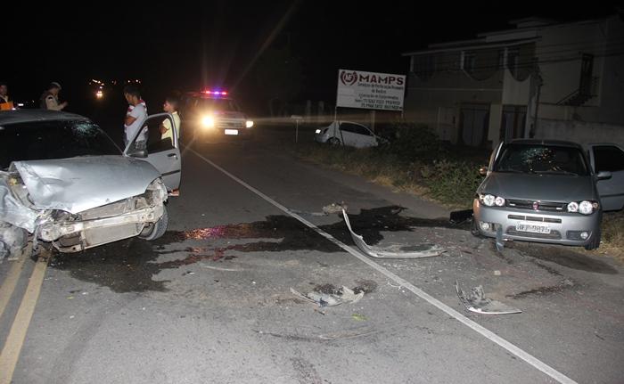 Acidente aconteceu no Km 03 entre o centro de Coité e as Casas Populares | Foto: Raimundo Mascarenhas