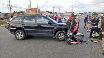 O acidente ocorreu por volta das 7h20