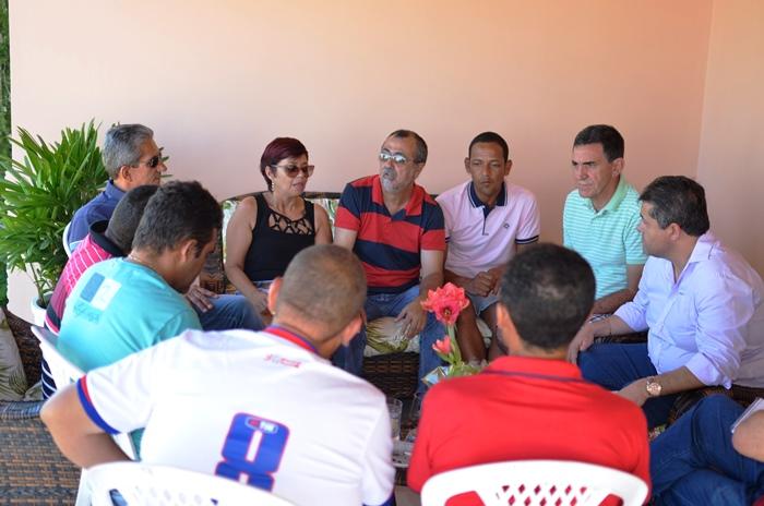 Reunião aconteceu na casa de Timotio Almeida presidente do PSD municipal