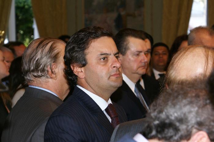 Aécio Neves a época governava o Estado de Minas Gerais | Foto: Raimundo Mascarenhas