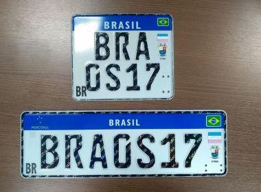 Resultado de imagem para Novas placas do Mercosul