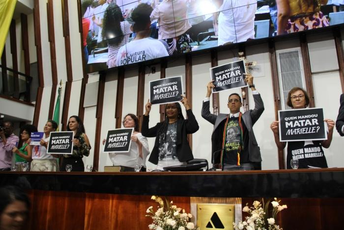 Um ano do assassinato de Marielle é lembrado em sessão na Assembleia Legislativa da Bahia