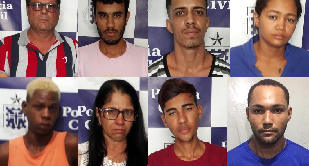 Entre os 17 presos da Operação Fachada está um ex-vereador de Cansanção