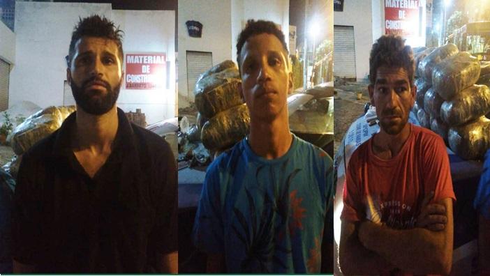 Dois coiteenses e um retirolandense são presos com grande quantidade de droga em Salvador