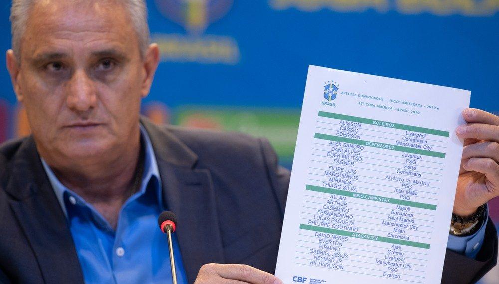 """Tite divulga """"lista mais difícil� com Neymar, David Neres e Daniel Alves para a Copa América"""