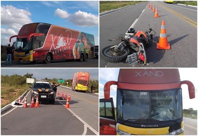 PB – Acidente com ônibus da banda Aviões do Forró deixa um morto