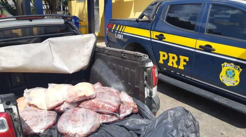 Feira de Santana: PRF flagra 150 quilos de carne bovina transportados irregularmente na BR 116