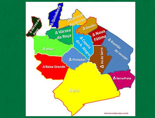Dos 15 municípios da Bacia do Jacuípe, 8 já tiveram registro de Covid-19 e 4 óbitos